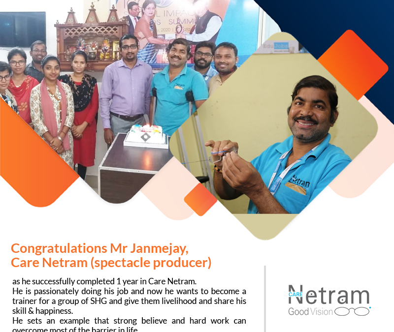 Congratulations Mr. Janmejay, Care Netram (spectacle producer)