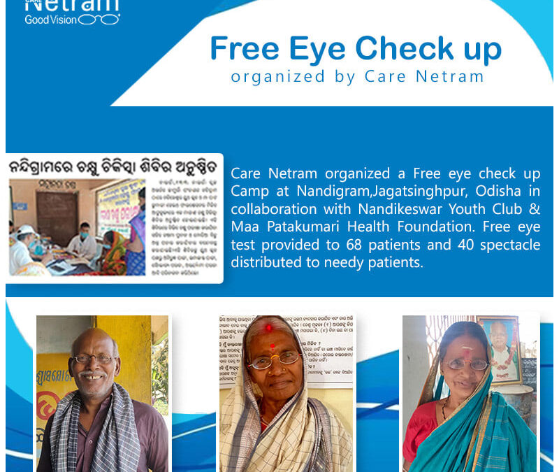 Free Eye Check Up Organized By Care Netram